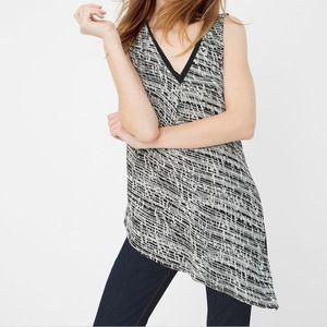 WHBM sleeveless asymmetric printed top